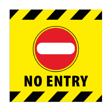 No Entry - 350mm Square